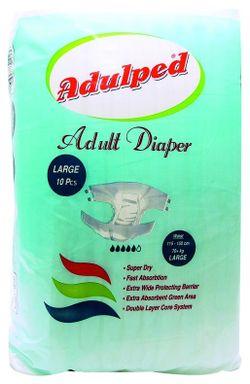 Подгузники для взрослых Adulped Eco Large 10шт 115-150см 70+кг