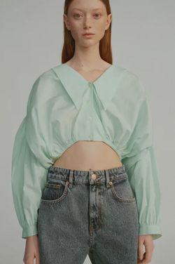 Блуза ZARA Бирюзовый 6929/001/982 zara
