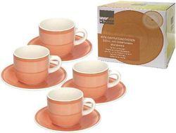 купить Набор посуды Promstore 39447 Набор чашек 4шт 220ml для чая с блюдцами Gypsy Orange в Кишинёве