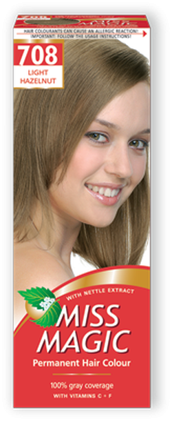 Vopsea p/u păr, SOLVEX Miss Magic, 90 ml., 708 - Blond alună deschis