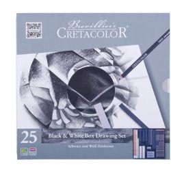 Set Black & White Box, 25 articole, CRETACOLOR