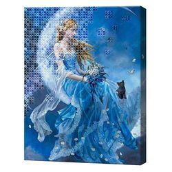 Платье принцессы-лебедя, 40x50 см, комбинированный набор с росписью цифр и алмазной мозаикой, YHDGJ74633YHDGJ