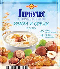 Овсяные хлопья Геркулес с изюмом и орехами 35 гр