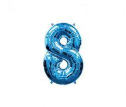 Cifra 8 Albastră 40 / 102 cm