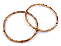 Mâner din bambus pentru geantă, Ø20 cm / bambus închis