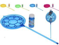 Мыльные пузыри 120ml c тарелкой на длинной ручке 32 cm