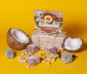 Рахат-лукум с орехами и кокосовой стружкой, кокос, 250 г