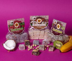 Рахат-лукум с орехами и кокосовой стружкой на развес (киви, малина, кокос), 1 кг