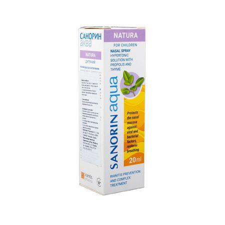 cumpără Sanorin Aqua 20ml spray naz.p/u copii cu propolis si cimbru N1 în Chișinău
