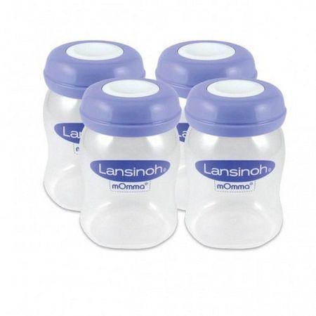 cumpără Lansinoh Container p/u colectarea laptelui matern,160ml,4buc,0+ (20417) în Chișinău