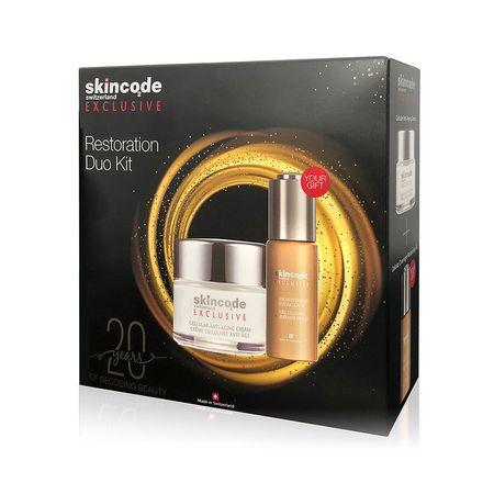 cumpără Skincode Exclusive Set Duo Crema antirid,50ml + Ulei de restaurare celulara,30ml (1281) în Chișinău