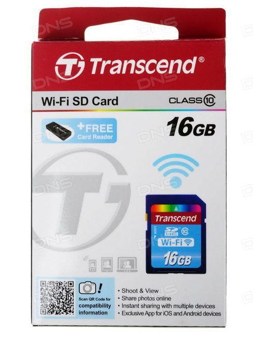 cumpără Transcend 16Gb SDHC Card (Class 10) Wi-Fi în Chișinău