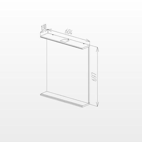 cumpără Oglindă Ellen albă 600x700 în Chișinău