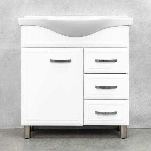 купить Allure Шкаф белый с умывальником Alba 800 в Кишинёве