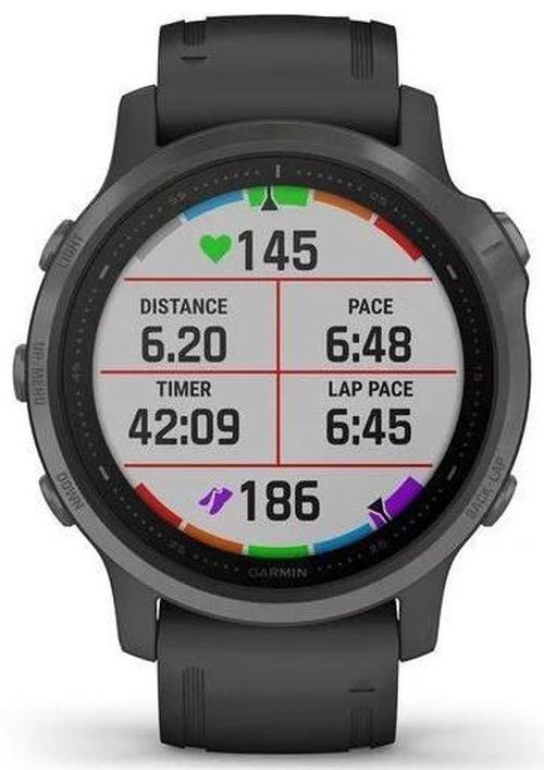 купить Смарт часы Garmin fenix 6S Sapphire,Carbon Grey DLC w/Blk Band в Кишинёве