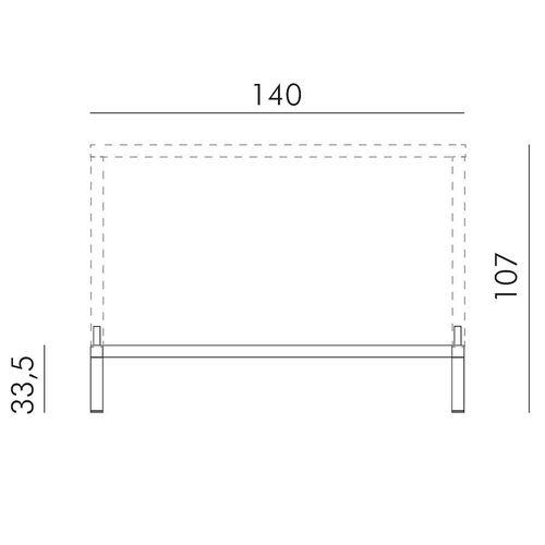 купить Комплект для увеличения высоты стола Nardi KIT CUBE 140x80 HIGH vern. bianco 46953.00.000 (Комплект для увеличения высоты стола Nardi CUBE 140x80) в Кишинёве