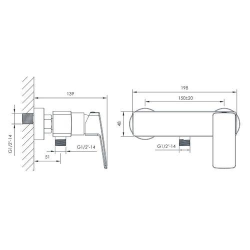 GRAFIKY смеситель для душа, 35 мм (ванная комната)