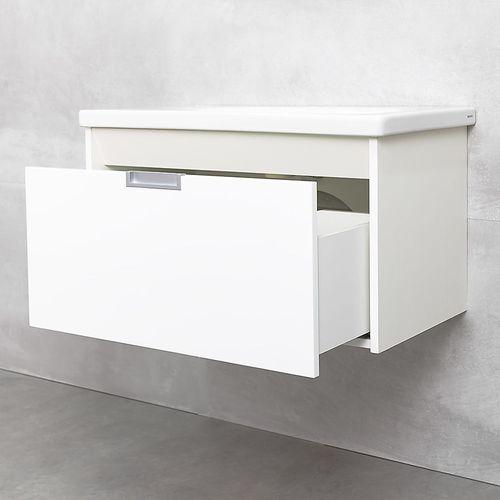 купить Diagonal Шкаф белый с умывальником Soft 800 в Кишинёве