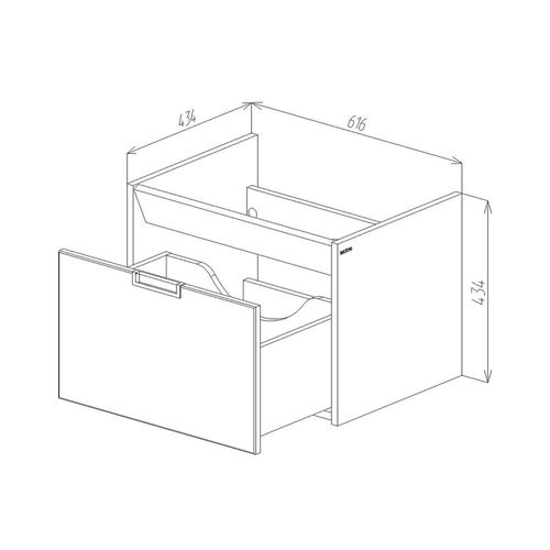 купить Diagonal Шкаф белый с умывальником Soft  650 в Кишинёве