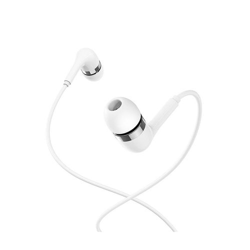 купить Borofone BM39 white (716880) Refined chant universal earphones with mic, Speaker outer diameter 10MM, cable length 1.2m, Microphone в Кишинёве