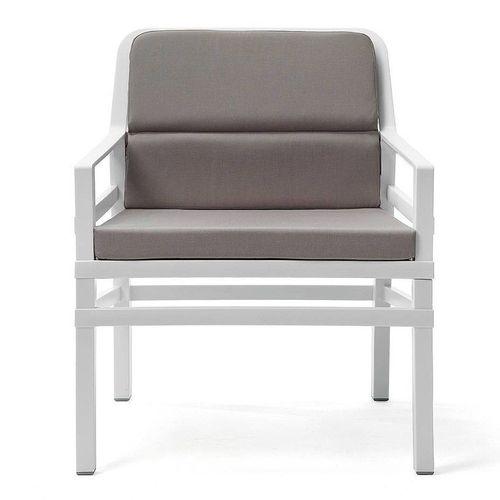 купить Кресло с подушками Nardi ARIA FIT BIANCO grigio 40330.00.163.FIT (Кресло с подушками для сада и терас) в Кишинёве