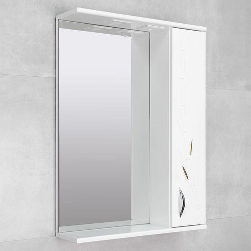 купить Albina Шкаф-зеркало белое 600 бамбук R в Кишинёве