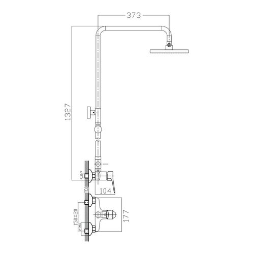 WITOW система душевая (смеситель для душа, верхний и ручной душ) (ванная комната)