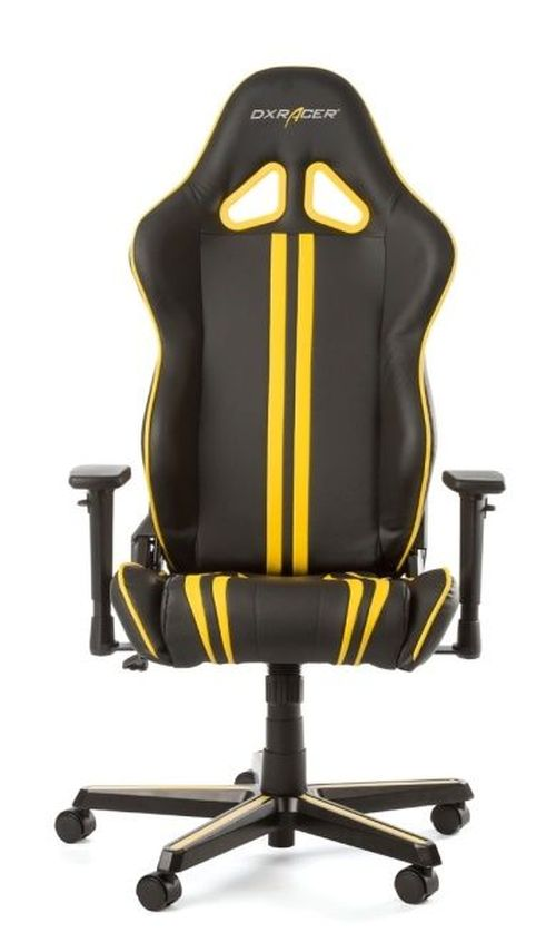 купить Gaming Chairs DXRacer - Racing GC-R9-NY-Z1, Black/Yellow/Black - PU leather, Gamer weight up to 100kg / growth 165-195cm, Foam Density 50kg/m3, 5-star Aluminum IC Base, Gas Lift 4 Class, Recline 90*-135*, Armrests: 3D, Pillow-2, Caster-2*PU, W-23kg в Кишинёве