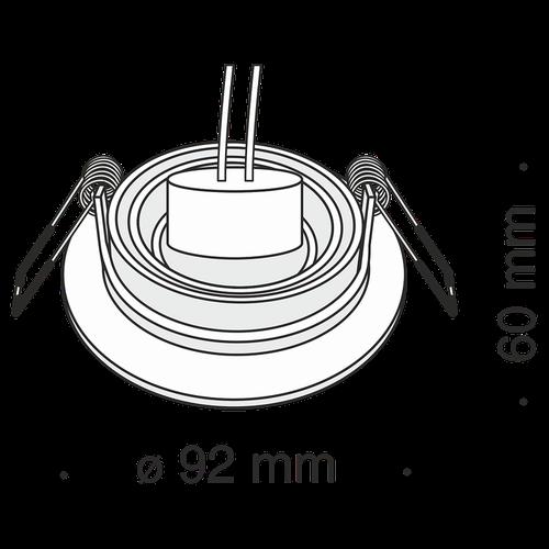 купить Спот врезной DL023-2-01S в Кишинёве