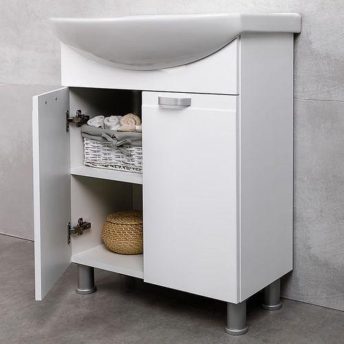 купить Rivera Шкаф белый с умывальником Zenon 650 в Кишинёве