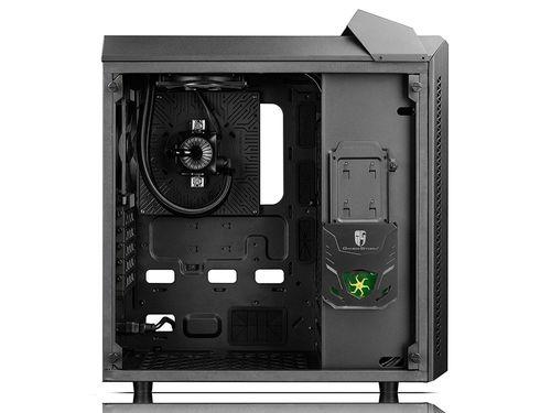 "cumpără DEEPCOOL ""BARONKASE LIQUID"" ATX Case with Liquid System (Pre-installed AIO liquid cooler / 120mm RGB fan,17.8~30dB) with Side-Window, without PSU, RGB Lighting System with Manual Controller, 1x120mm rear fan, 1xUSB3.0,1xUSB2.0/Audio, Black în Chișinău"