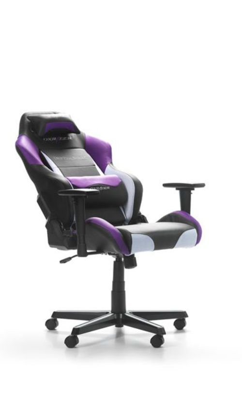 купить Performance Chairs DXRacer - Drifting GC-D61-NWV-M3, Black/White/Violet - PU leather, Gamer weight up to 100kg / growth 145-175cm, Foam Density 52kg/m3,5-star Aluminum IC Base,Gas Lift 4 Class,Recline 90*-135*,Armrests: 3D,Pillow-2,Caster-2*PU,W-24kg в Кишинёве