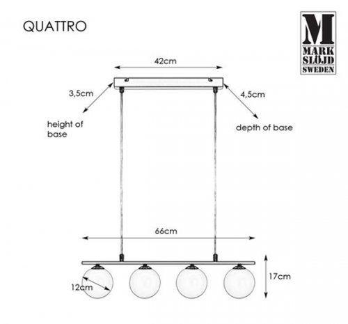 купить Suspendare Quattro 107574 в Кишинёве