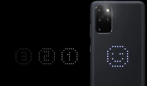 купить Чехол для моб.устройства Samsung EF-KG985 LED Cover White в Кишинёве