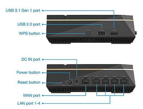 купить ASUS RT-AX92U AX6100 Tri-Band WiFi 6 (802.11ax) Gaming Router, WiFi 6 802.11ax Mesh System, AX6100 400 Mbps+867 Mbps+4804 Mbps, dual-band 2.4GHz/5GHz-1/5GHz-2 for up to super-fast 6.1Gbps, WAN:1xRJ45 LAN: 4xRJ45 10/100/1000, USB 2.0&USB 3.1 в Кишинёве