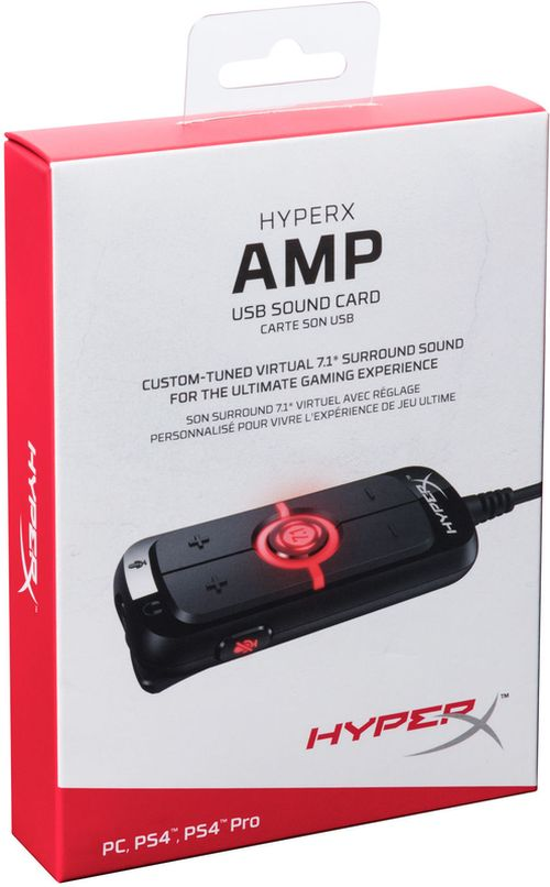 cumpără HYPERX Amp USB Sound Card, Audio and Mic Controls with 2 Meter Braided Cable, Compatible with Stereo Headsets with 3.5mm Plug, Plug N Play for PC, PS4™, and PS4™ Pro via USB în Chișinău