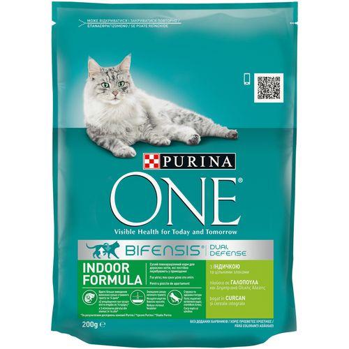 купить Purina ONE Indoor (для кошек живущих в доме, с индейкой), 200гр в Кишинёве