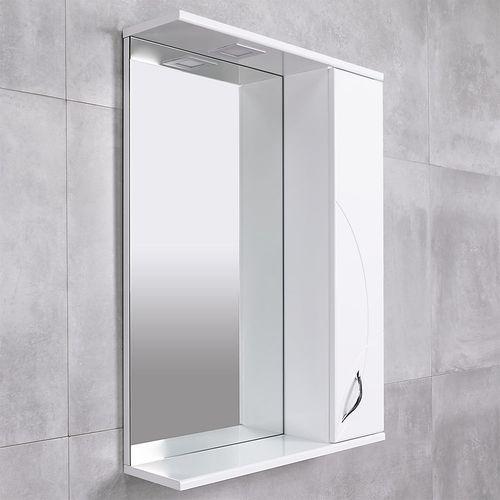 купить Premium Шкаф-зеркало белый 600 R в Кишинёве