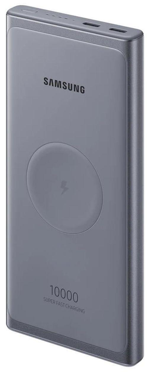 cumpără Acumulatoare externe USB Samsung EB-U3300 10K mAh, 25W Fast charge, PD 3.0, Wireless charging Dark Gray în Chișinău