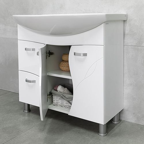 купить Interio Шкаф белый про с умывальником Zenon 860 в Кишинёве