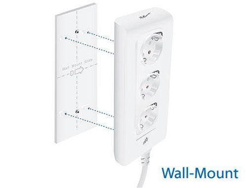 купить Ubiquiti mFi mPower 3-port Power, Wifi Power 220 - 250VAC, 50 Hz, 16A, 3 outlets, 16MB RAM, 8MB Flash (Priza inteligenta filtru de retea / умная розетка cетевой фильтр) в Кишинёве