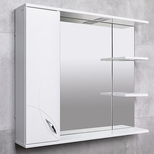 купить Premium Шкаф-зеркало белый 1000 L в Кишинёве