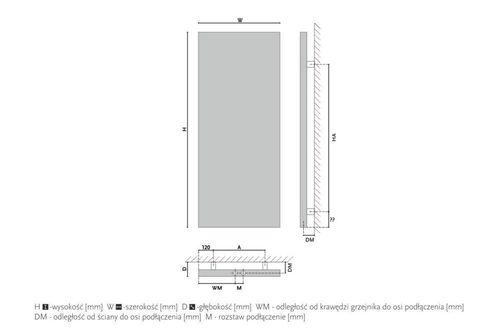 купить Дизайнерский радиатор GORGIEL FIGIL V AFI V 150/50 в Кишинёве