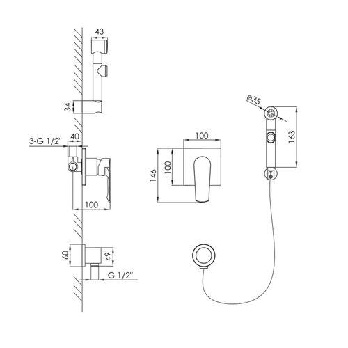 Модель установленного картриджа Sedal EN- 35 S/D AZ  (ванная)