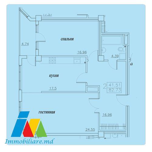 Apartament 2 camere, sectorul Telecentru, str. Pietrarilor.