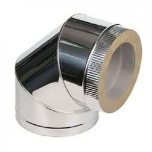 Двустенный отвод из нержавеющей стали 90° Ø 100-180 мм