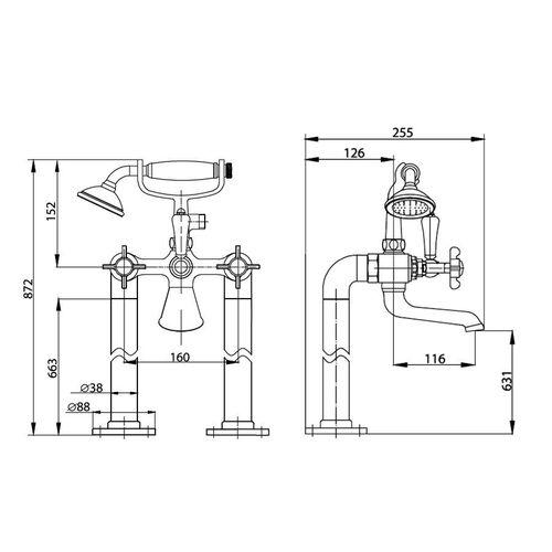 CUTHNA stribro смеситель для ванны (ванная комната)