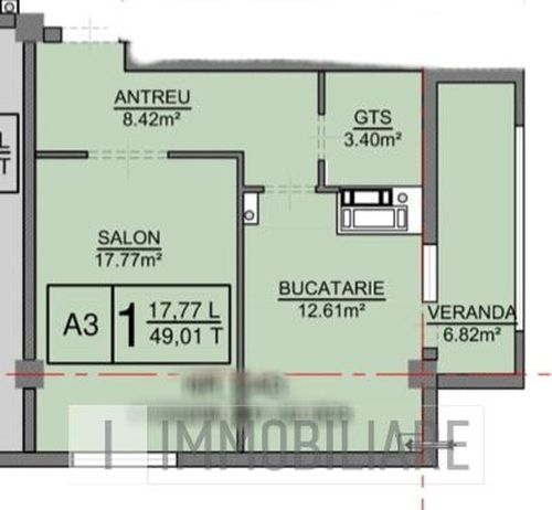 Apartament cu 1 cameră, sect. Centru, str. Vasile Alecsandri.
