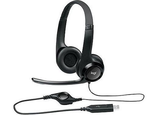 купить Наушники с микрофоном Logitech H390 Black USB Headset, Headset: 20Hz-20kHz, Microphone: 100Hz-10kHz, 2.4m cable, 981-000406 (casti cu microfon/наушники с микрофоном) в Кишинёве