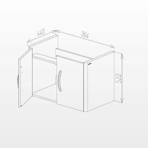 купить Vista Шкаф светлый полилак с умывальником Luxor 800 Подвесной в Кишинёве